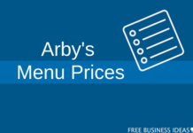 arbys menu prices