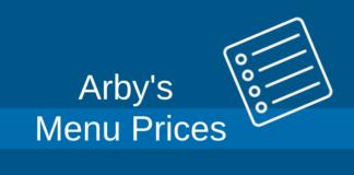 arbys menu prices