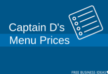 captain ds menu prices