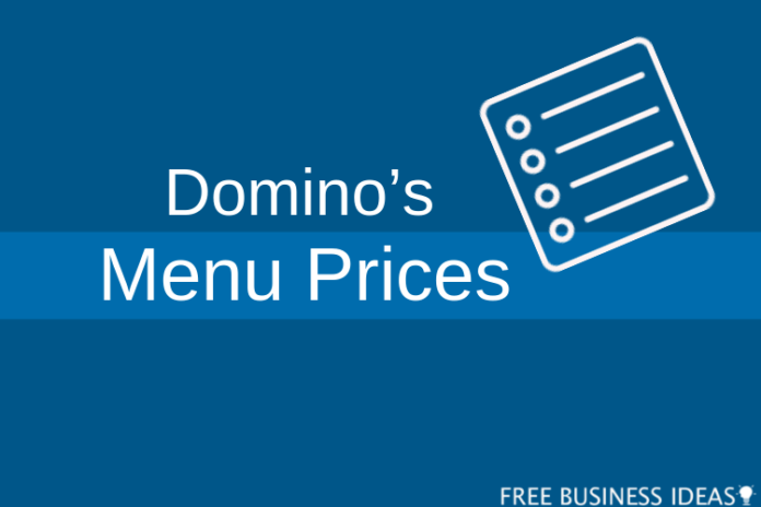 dominos menu with prices