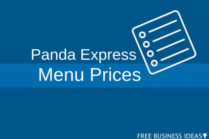 panda express menu prices