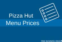 pizza hut menu prices
