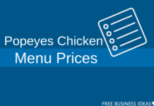popeyes chicken menu prices