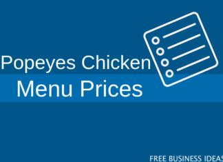 popeyes chicken menu prices