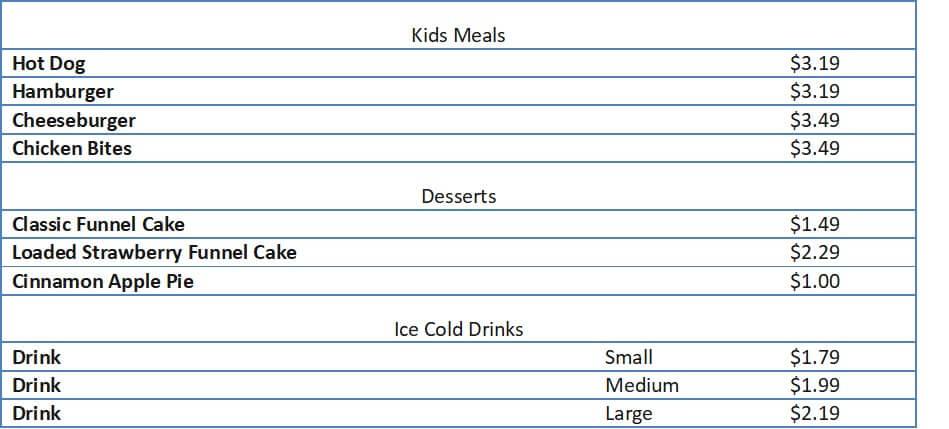 rallys menu prices