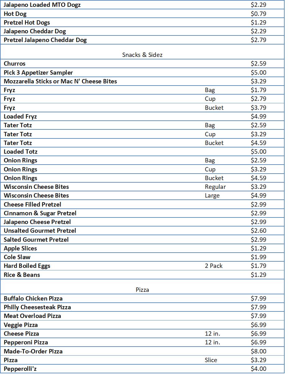 sheetz drink menu