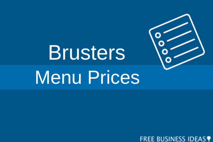 brusters menu prices