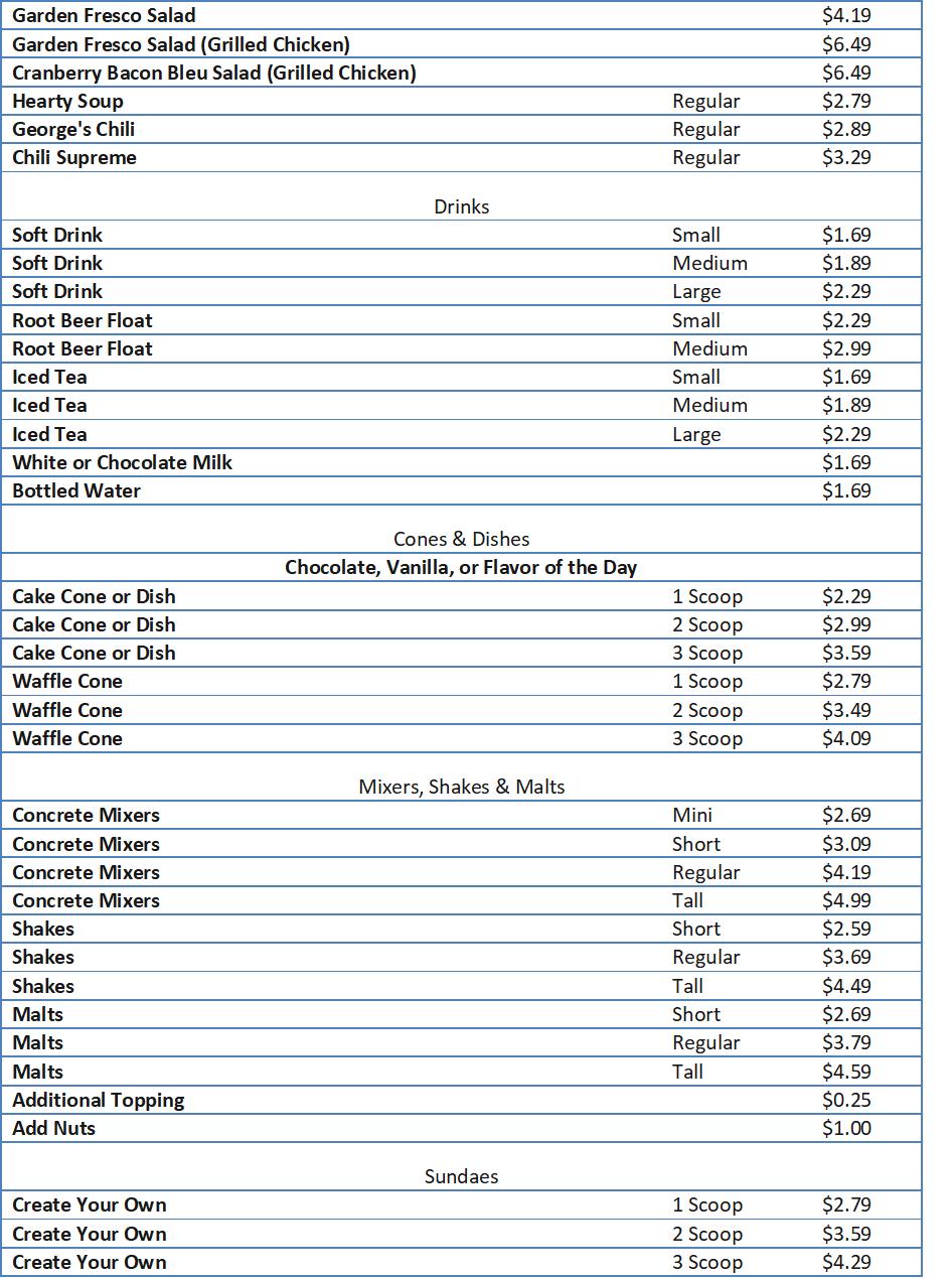 culvers menu prices
