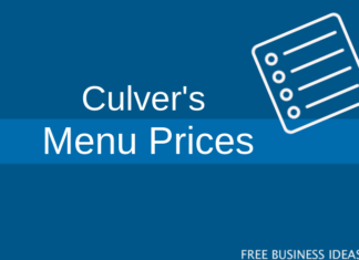 culvers menu with prices