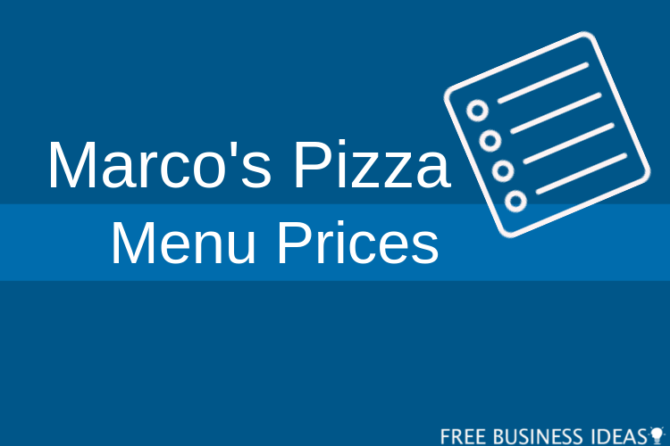 marcos pizza menu with prices