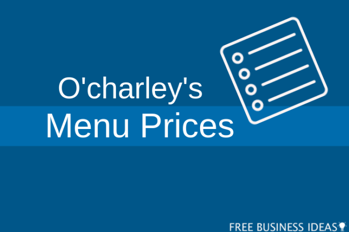 ocharleys menu price