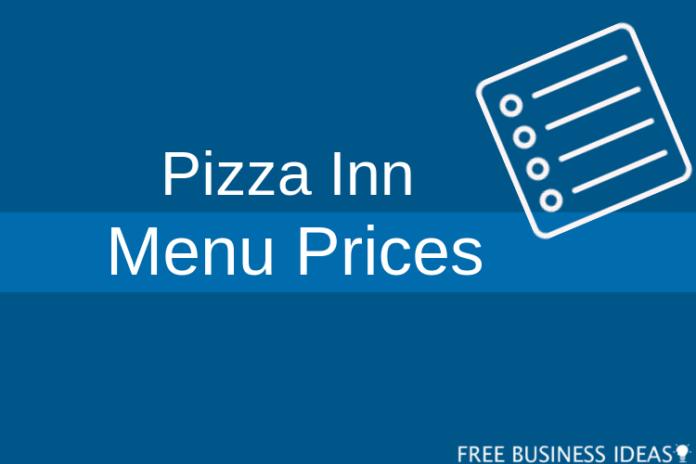 pizza inn menu prices
