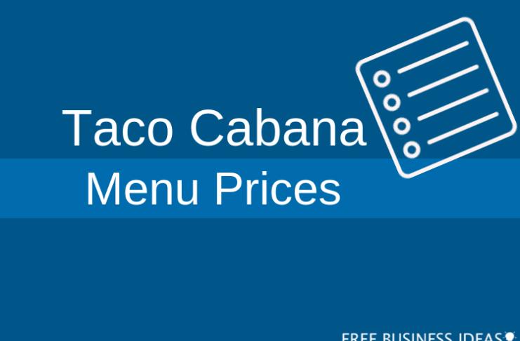 taco cabana menu with prices