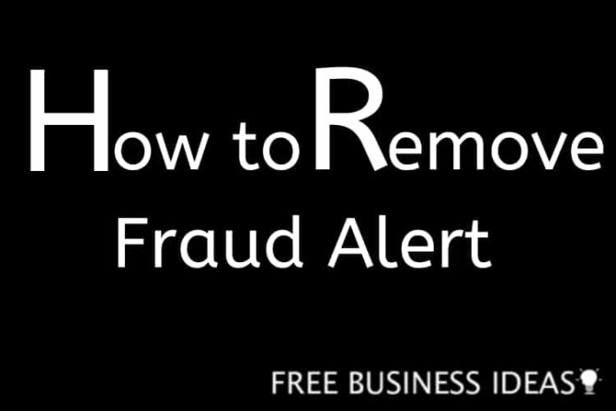 how to remove fraud alert